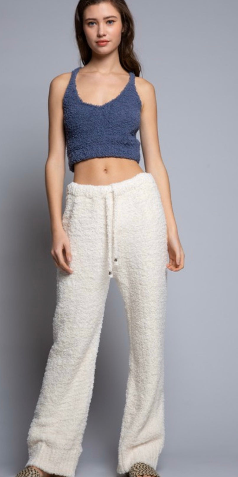 Fleece Lounge Pants (cream)