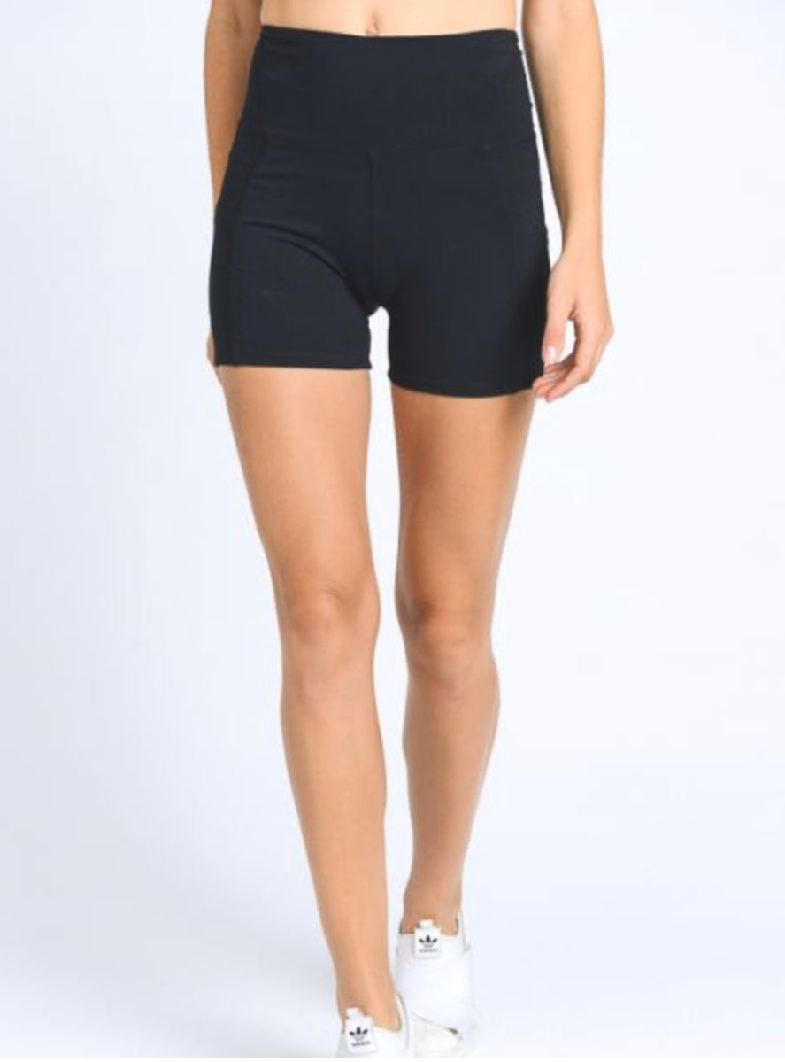 High Waist Sweetheart Shorts w/pocket (black)