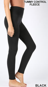 Fleece Lined Seamless Leggings (black)