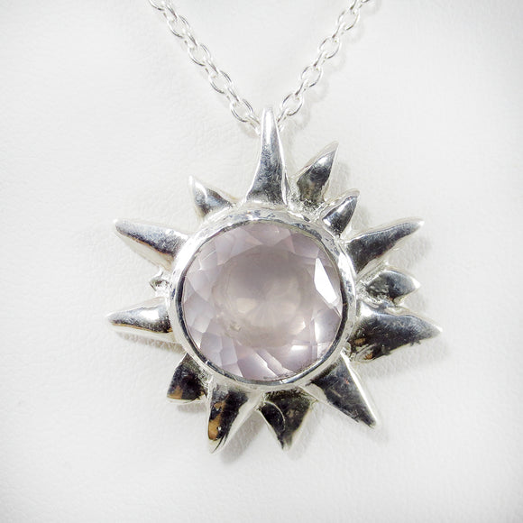 Starburst Pendant with Rose Quartz