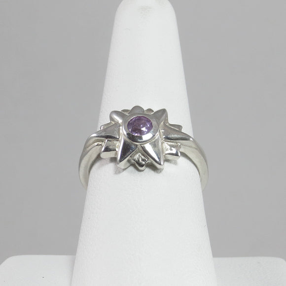 Starburst Ring with Amethyst
