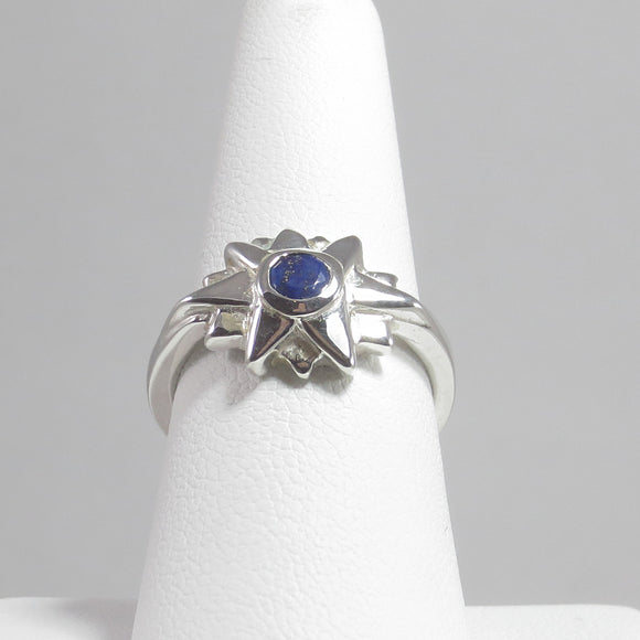 Starburst Ring with Lapis Lazula