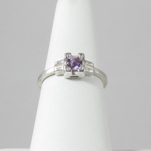 Embrace Ring with Amethyst