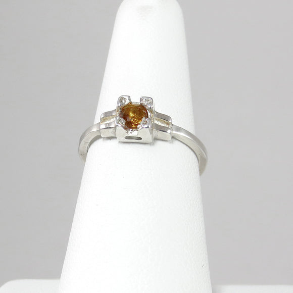 Embrace Ring with Orange Citrine