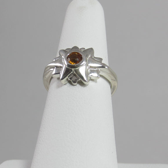 Starburst Ring with Orange Citrine