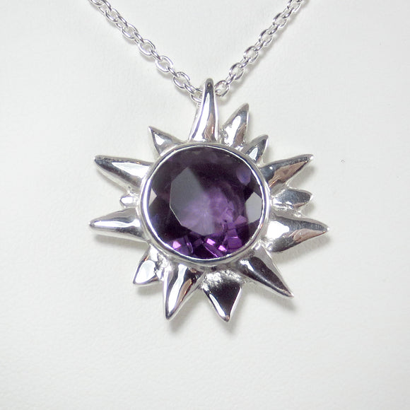 Starburst Pendant with Amethyst