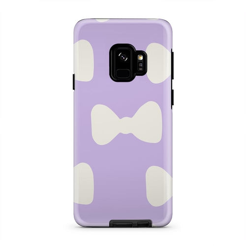 Light Purple Cute Bow Tie Pattern Cell Phone Case -  iPhone & Samsung Models