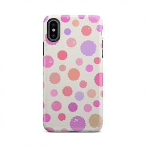 Purple And Red Cute Bubble Polka Dot Cell Phone Case -  iPhone & Samsung Models