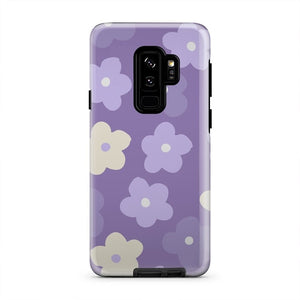 Purple And White Cute Spring Flowers Cell Phone Case -  iPhone & Samsung Models