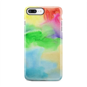 Rainbow Watercolor Sky Pattern iPhone & Galaxy Cases