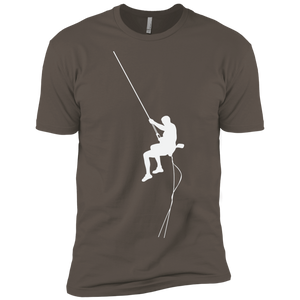 Rappeling Shiloutee  Premium Short Sleeve T-Shirt