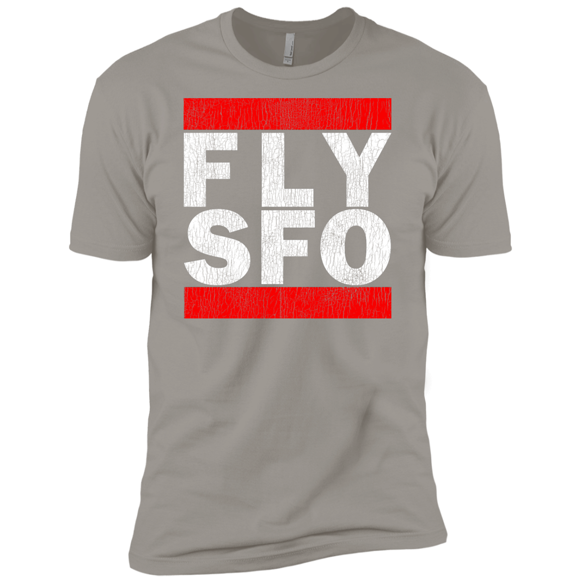 MEN'S FLY SFO (SAN FRANCISCO) WHITE VINTAGE PRINT SHIRTS