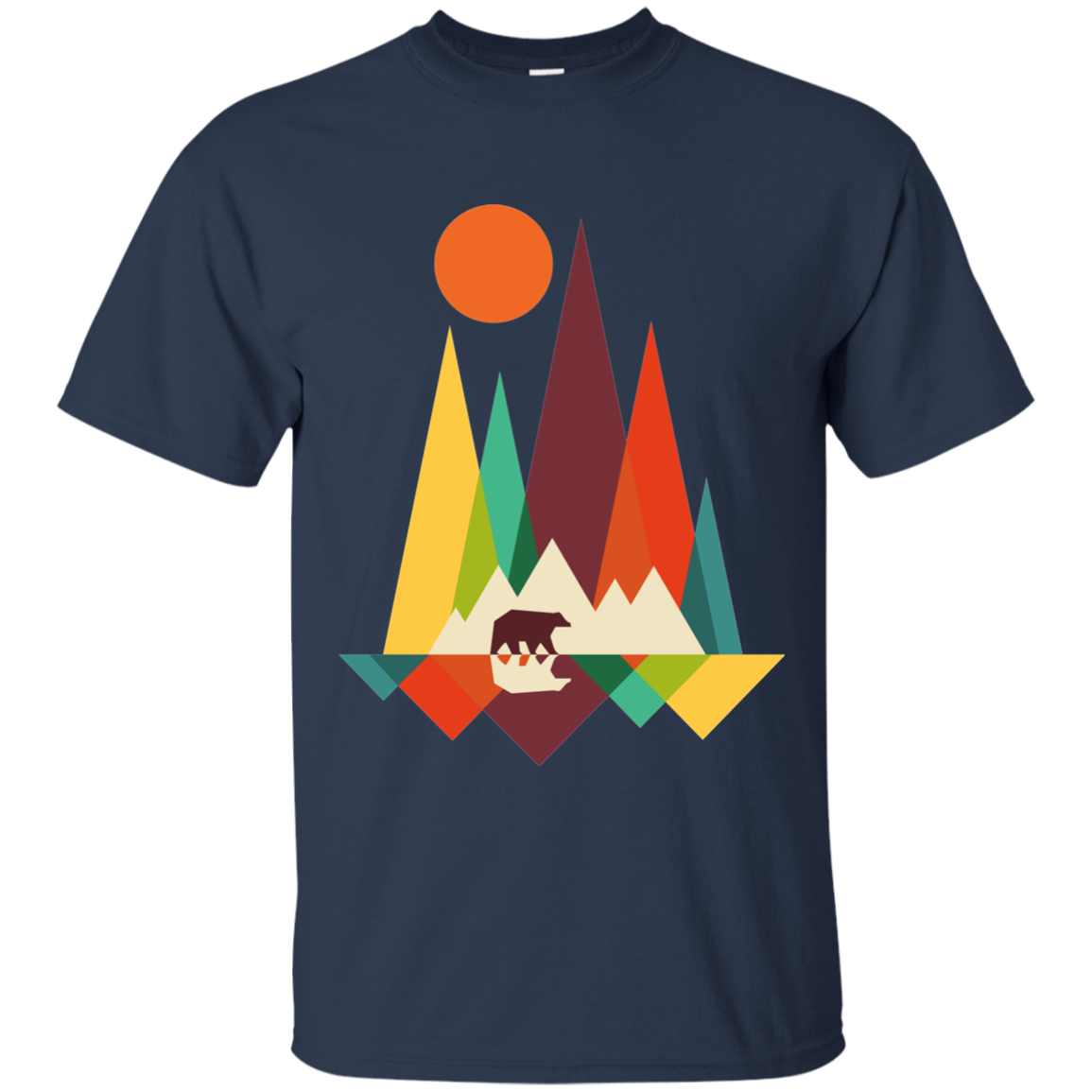 BEAR IN THE WILDERNESS MEN'S T-SHIRT