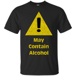 Caution Sign May Contain Alcohol