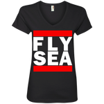WOMEN'S FLY SEA (SEATTLE) WHITE CLASSIC PRINT SHIRTS