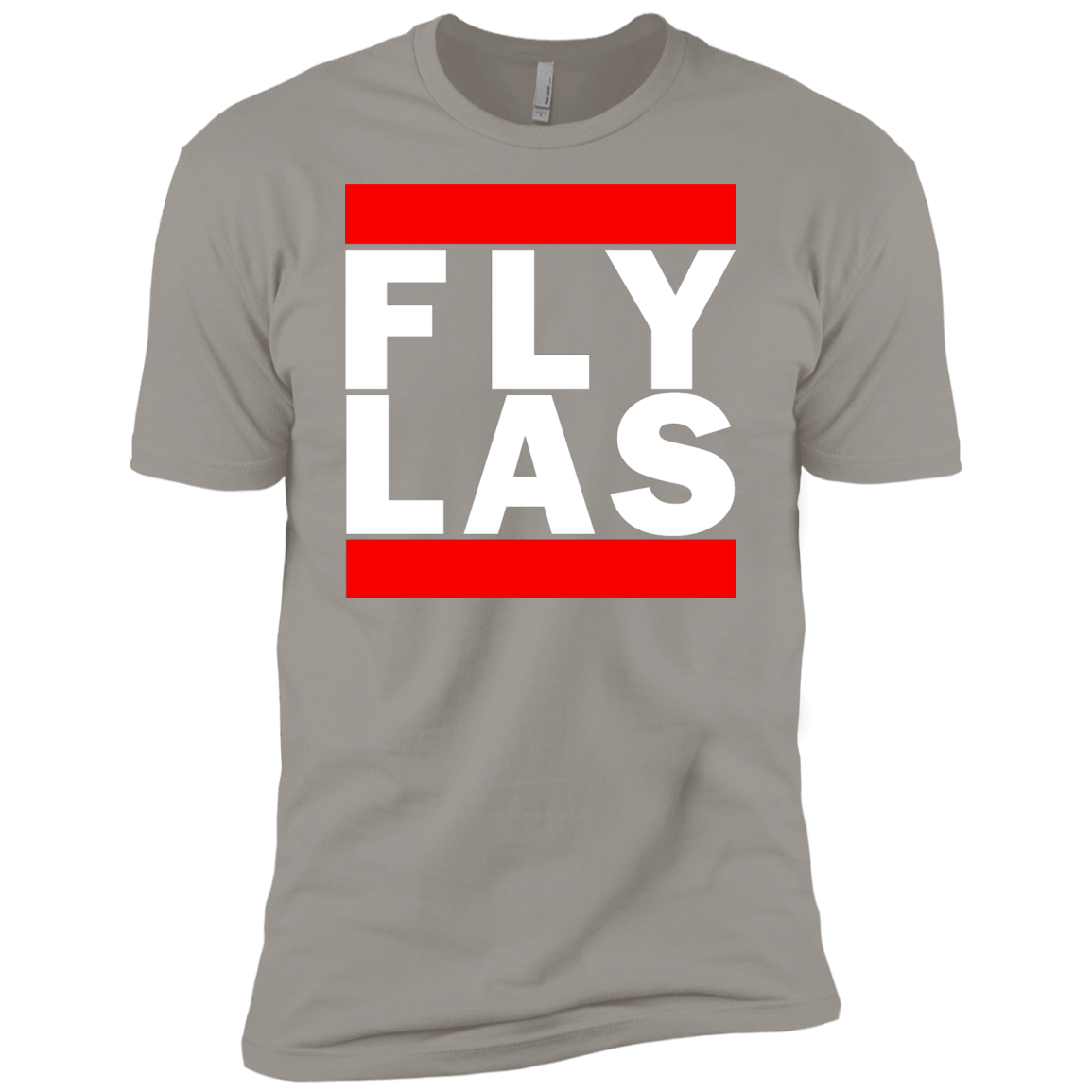 MEN'S FLY LAS (LAS VEGAS) CLASSIC WHITE PRINT SHIRTS