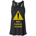 Caution Sign - May Contain Alcohol Racerback Tank Top
