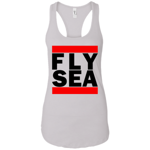 WOMEN'S FLY SEA (SEATTLE) BLACK CLASSIC PRINT SHIRTS