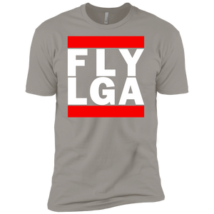 MEN'S FLY LGA (LaGuardia) WHITE CLASSIC PRINT SHIRTS