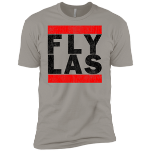 MEN'S FLY LAS (LAS VEGAS) BLACK VINTAGE PRINT SHIRTS