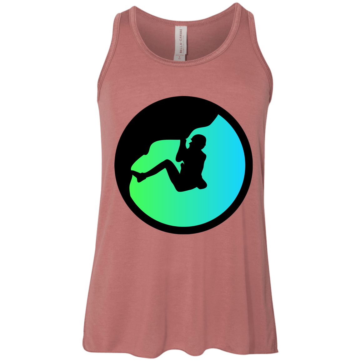Rock Climbing Youth Flowy Racerback Tank