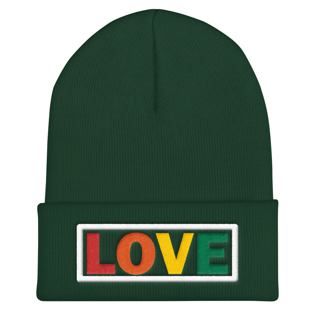 LOVE Embroidered Cuffed Beanie