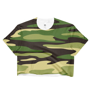 Camouflage Ladies Crop Top