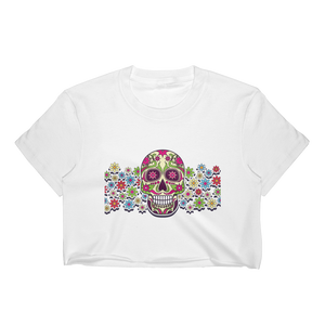 Sugar Skull Women's Crop Top