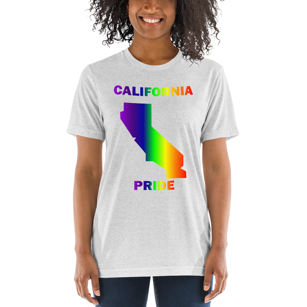California Pride Unisex Short Sleeve Premium Tri-Blend T-shirt