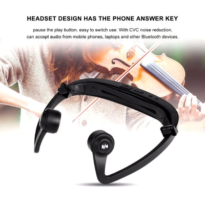 Bone Conduction Bluetooth Headphone Phone Answer Key