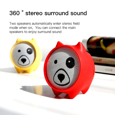 Dogz Portable Bluetooth Wireless Speaker 360 Surround Sound