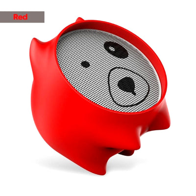 Dogz Portable Bluetooth Wireless Speaker Red Color