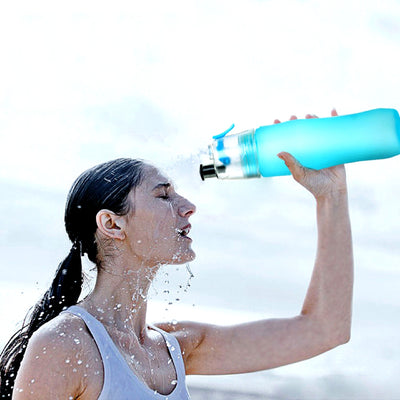 Drink Sports Water Bottle with Spray