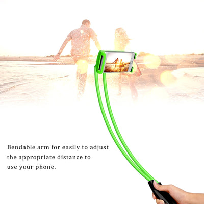 Lazy Hanging Neck Mobile Phone Holder Feature Beach