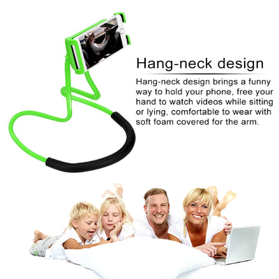 Lazy Hanging Neck Mobile Phone Holder Feature Bed