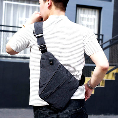 Multi-Purpose Crossbody Shoulder Messenger Bag Back