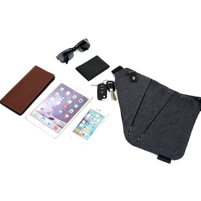 Multi-Purpose Crossbody Shoulder Messenger Bag Items