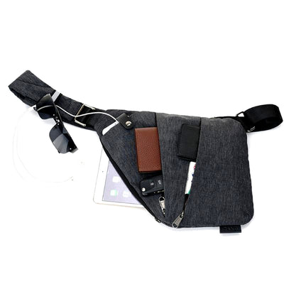 Multi-Purpose Crossbody Shoulder Messenger Bag Top View