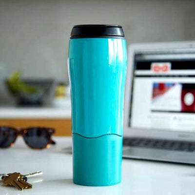 Non-Spill Strong Grip Mug Tumbler Turquoise