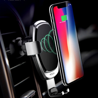 Smartphone Gravity Wireless Charging Car Mount
