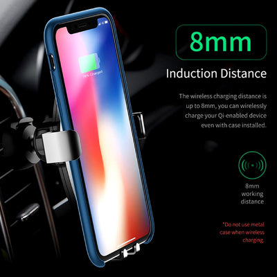 Smartphone Gravity Wireless Charging Car Mount 8mm