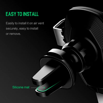 Smartphone Gravity Wireless Charging Car Mount Easy to Install