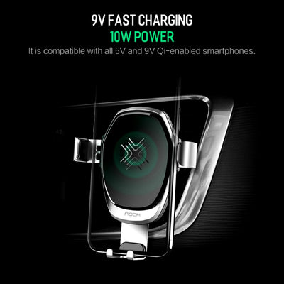 Smartphone Gravity Wireless Charging Car Mount Fast Charging