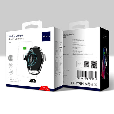 Smartphone Gravity Wireless Charging Car Mount Packaging