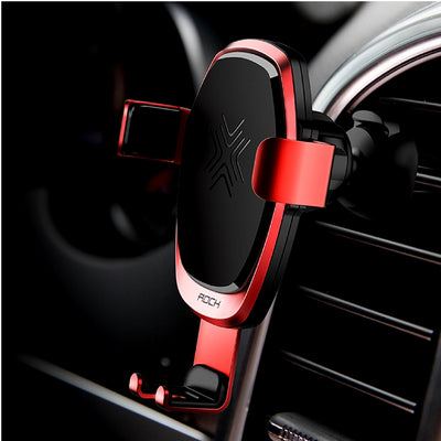 Smartphone Gravity Wireless Charging Car Mount Red