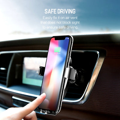 Smartphone Gravity Wireless Charging Car Mount Safe Driving