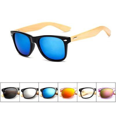 Unisex Vintage Fashion Outdoor Bamboo Sunglasses