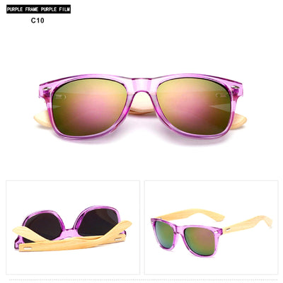 Unisex Vintage Fashion Outdoor Bamboo Sunglasses C10