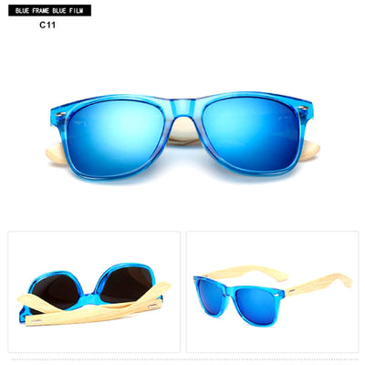 Unisex Vintage Fashion Outdoor Bamboo Sunglasses C11
