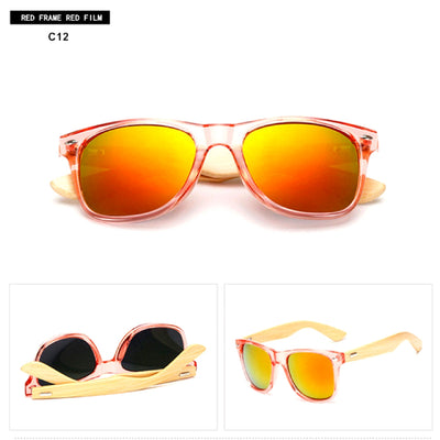 Unisex Vintage Fashion Outdoor Bamboo Sunglasses C12